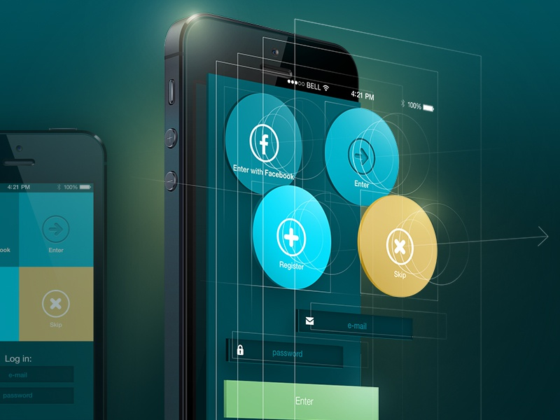 Plan B. v 2.0 ui ux design interface ios7 xcode appstote apple application animation flat minimalism