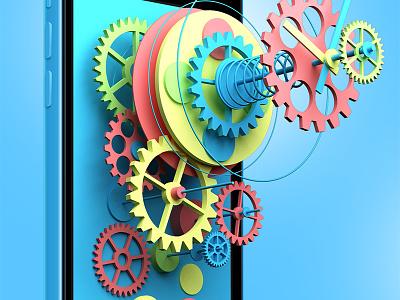 The Experimental Clock. Part II. ui ux design interface ios7 xcode appstote apple application animation flat minimalism
