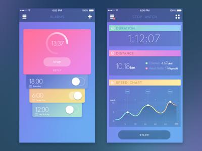 Sport App mobile interface feed ukraine material socialnetwork flat appdesign ux ui