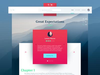 Book Review interface design dasboard social network minimal ukraine flat webdesign web interface ux ui