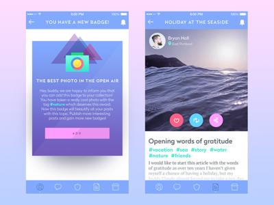 Simple Blog App social network app design material design ukraine mobile design mobile interface design interface ux ui product design