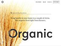 Tubik organic landing page