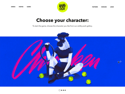 Game Characters Choice Interactions promo character design character art design agency graphic design parallax hero section landing web design website web illustration design application animation flat interface ux ui