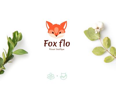 Logo Fox identity branding identity logo designer cute fox fox flower boutique flower logo logotype logo fox logo design vector design art typography animals illustrated illustration adobe illustrator cute art design branding logo