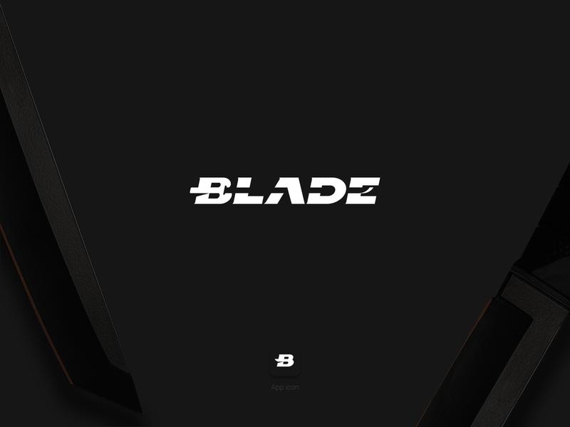 Blade logo typographic type word sword blade logo shape monochrome wordmark blade bladelogo logotypedesign logotype app icon typography logo branding design adobe illustrator vector