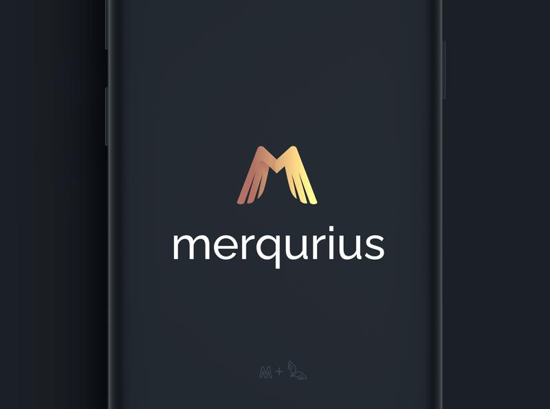 Logo Merqurius letter m gold wings logo god mercury lettermark wings logos logo design logotype app icon design art adobe illustrator vector illustration typography design branding logo