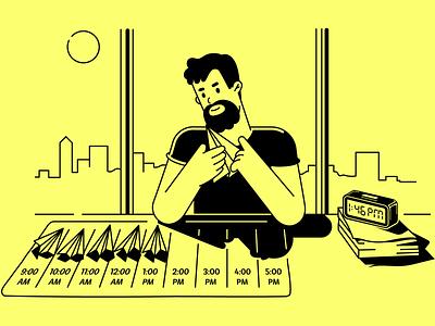 Creator constructor manipulation engineer yellow people illustration human programmer product worker man character branding charactedesign design art cute art art design adobe illustrator vector illustration
