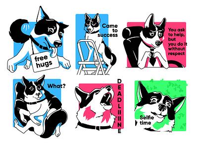 Doggy dog mascot character mascot design mascot animals anu doggy dog illustration dog sticker design sticker art character animals illustrated branding charactedesign design art cute art adobe illustrator vector illustration