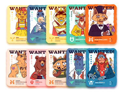 StreetBeasts nft colors character pigeon bear monkey deer lion fox game cartoon graphic design branding charactedesign cute art design art adobe illustrator vector illustration