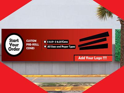Banner flyer poster business card startup blogger vlogger red branding logodesign graphicdesign
