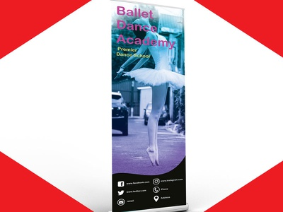 Roll Banner Mockup layout resume flyer poster business card startup blogger vlogger red branding logodesign graphicdesign