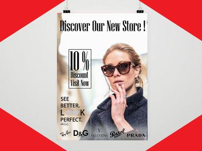 Sunglasses Flyer layout resume flyer poster business card startup blogger vlogger red branding logodesign graphicdesign