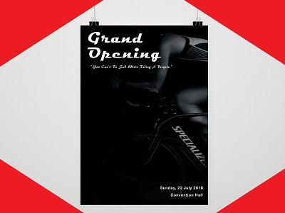 Bike Flyer layout resume flyer poster business card startup blogger vlogger red branding logodesign graphicdesign