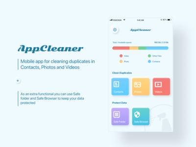 AppCleaner - iOS UI/UX mobile app design