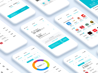 Mobile finance app iOS UI/UX (RUS) user interface mobile finance payment bills application ios app clean design ux ui uiux