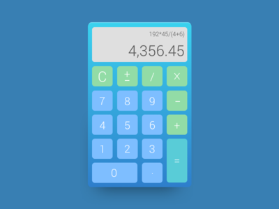 Daily Ui Day №004. Calculator дизайн challenge web calculator calc ux user interface uiux daily dailyuiday4 dailyui004 dailyui
