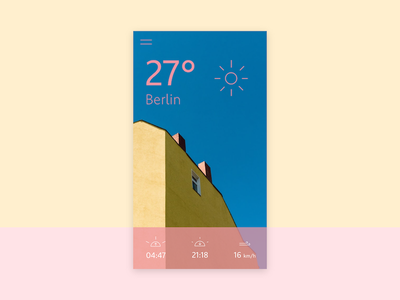 Mobile UI: Weather app concept summer colorful pastel mobile weather ux ui iphone ios icon app