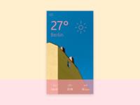 Mobile UI: Weather app