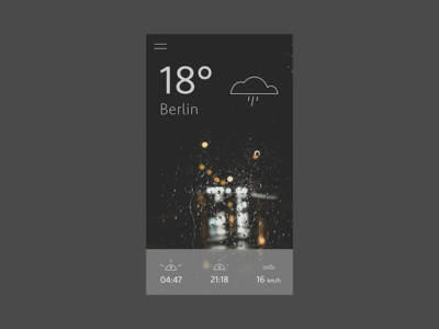 Mobile UI: Weather app - #2 weather ux ui mobile iphone ios icon concept rain app