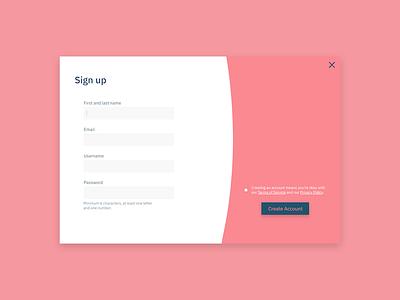 Daily UI #001: Sign up challenge design web modal form signup ux ui dailyui