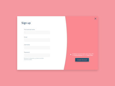 Daily UI #001: Sign up challenge design web modal form signup ux ui dailyui