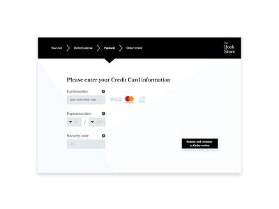 Daily UI #002: Credit Card Checkout store shop web ux ui checkout form design dailyui challenge