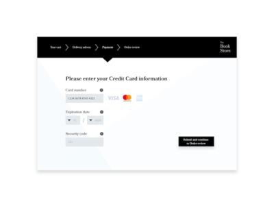 Daily UI #002: Credit Card Checkout store shop web ux ui checkout form design dailyui challenge