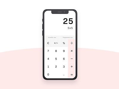 Daily UI #004: Calculator calculator mobile ux ui design dailyui daily challenge app