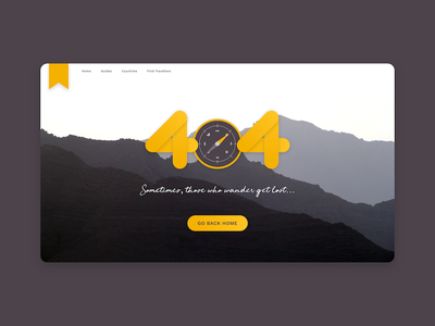 Daily UI #008: 404 page nature travel page error 404 web ux ui design dailyui daily challenge