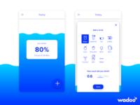 Mobile App: Wadoo - Main screen
