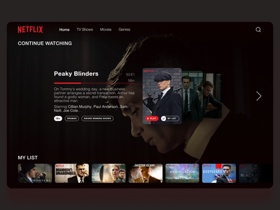 Netflix concept design netflix redesign concept design