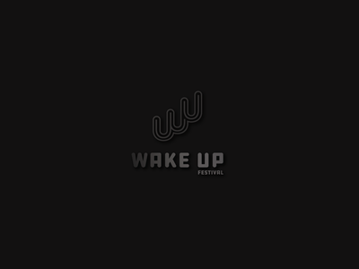 Wake up Festival logotype design