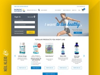Nordic Naturals website — in-progress Home Page design