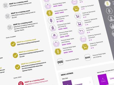 Pattern Library: B2B Progression App progression business b2b design system icons sketch pattern library pattern ux ui design app