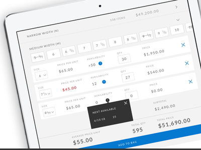 Mobile eCommerce Order Form Concept commerce responsive modular spreadsheet tablet mobile order form form order ecommerce