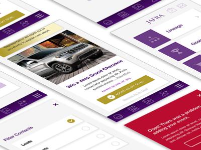 Jafra B2B Consultant App Screens b2b ui  ux design interface components ecommerce mobile app ux ui design