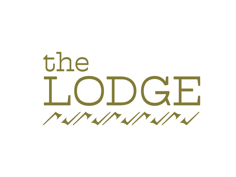 The Lodge design cabin lodge resort branding logo