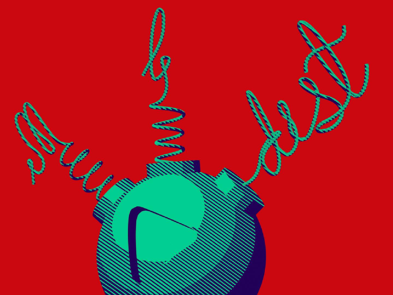 molodist illustration identity cartoon lettering logo 3d blender3d