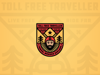 The Toll Free Traveller Rider Badge
