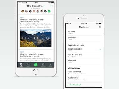 The story behind Evernote's redesign app note-taking notes productivity product design ux iphone evernote