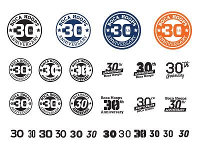 Boca Hoops anniversary logo basketball