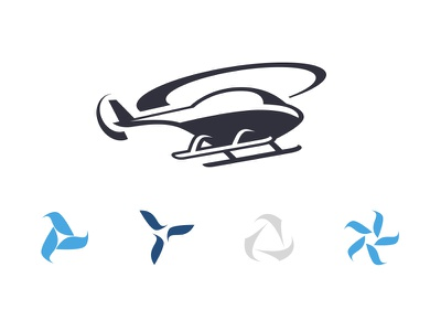 Helicopter Items blade motion logo illustration helicopter