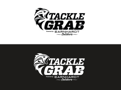 Tackle Grab Logo outdoors fishing fish typography illustration logo