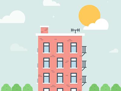 Lil' Apartment Building illustration