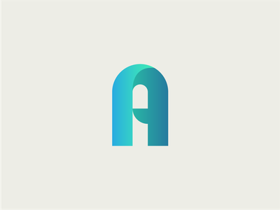 A is for... mark letter a logo
