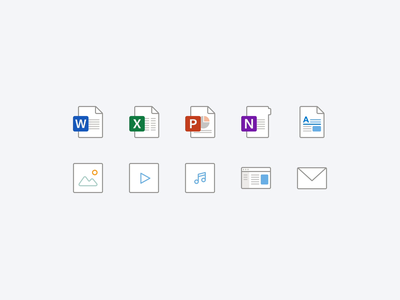 Filetype Icon Refresh in Microsoft Office redesign onedrive filetype files microsoft outlook office icons
