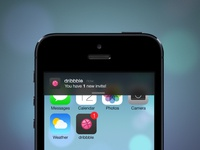 iOS 7 dribbble Invite