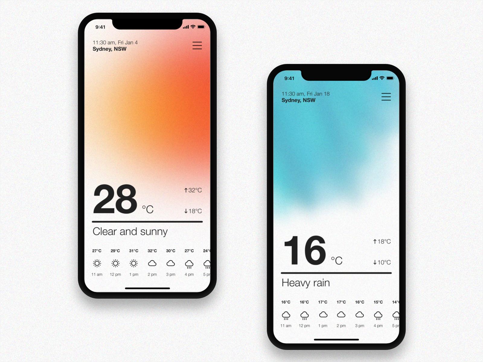 01 / Weather App Concept