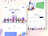 Treva - Job Hiring Platform Landing Page (Sketch Freebie)