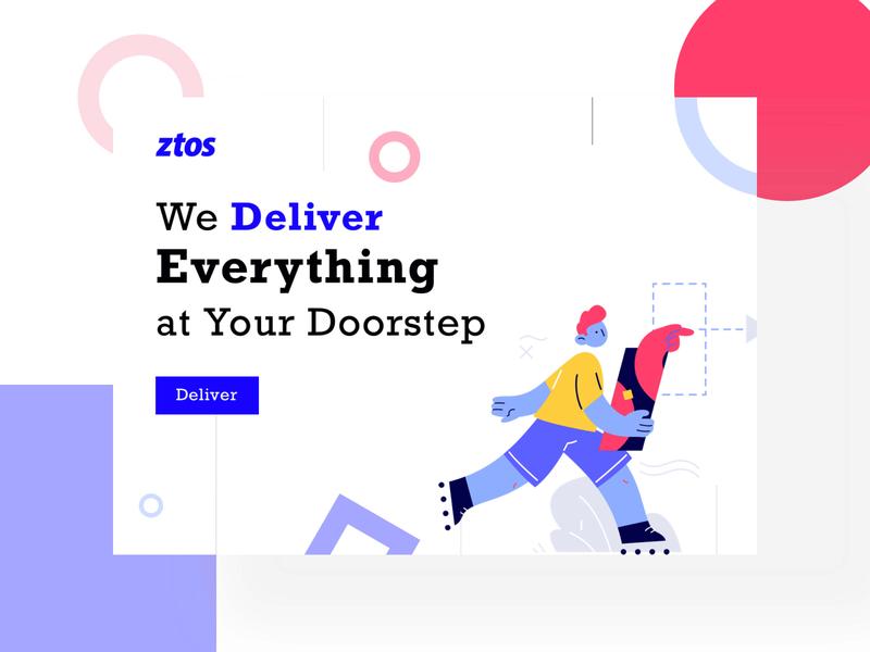 Ztos - Landing Page (Free Sketch File) website landing page web illustration typography brutalism flat ui ux design minimal